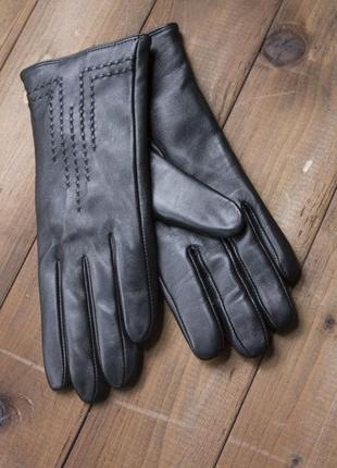 Женские кожаные сенсорные перчатки 948. все размеры