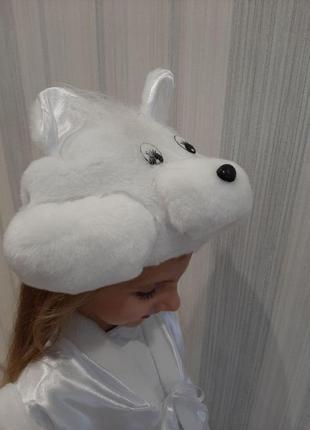 Новогодний карнавальный костюм белый мишка