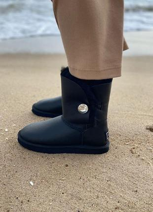 Ugg short bailey button leather угги