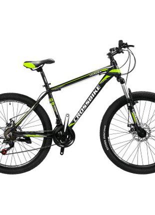 """Велосипед Cross Leader 26"""" 17"""" black-neon yellow-white"""