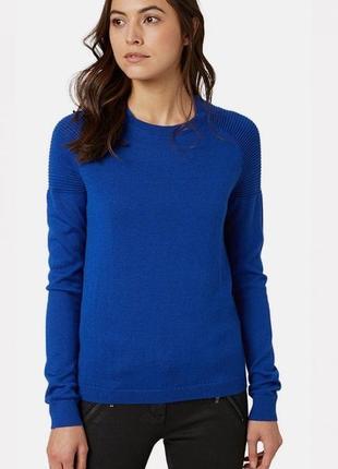 Синий тонкий свитер, джемпера