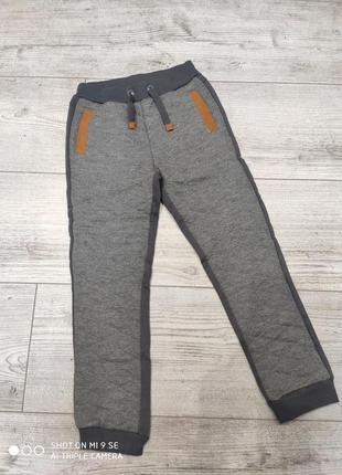 Спортивные штаны джоггеры утеплённые с начесом 134 cool club
