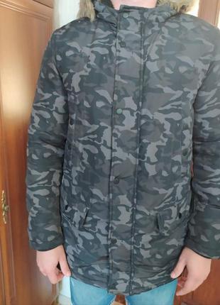 Фирменная мужская зимняя куртка Clockhouse
