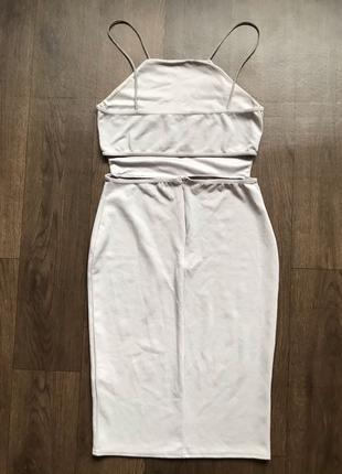 Платье открытая спина