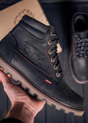 Мужские зимние кожаные ботинки levis код: vlsч бот