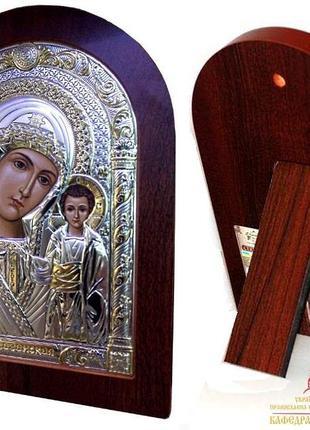 Казанская икона Божией Матери греческая с серебром