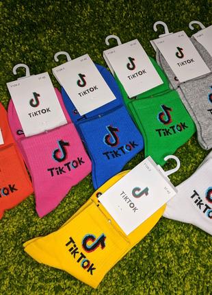Женские яркие носки  Tik-Tok, Likee, смайлы