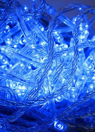Гирлянда синяя 500 LED , 40 м. Елочная герлянда .. Новый год