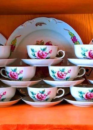 Чайная пара чашка и блюдце фарфор советского качества