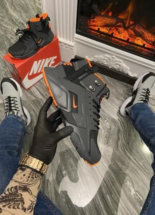 Nike air huarache mid black/orange (термо)