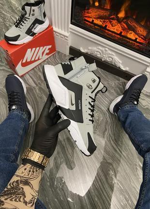 Nike air huarache mid gray/black (термо)