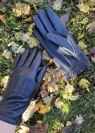 Фирменные стильные качественные натуральные кожаные перчатки
