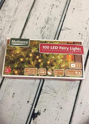 Гирлянда новогодняя на елку 12м led 100 melinera