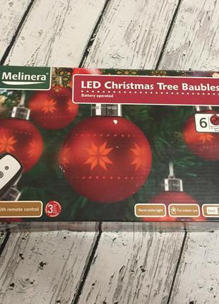 Новогодние шары игрушки на пульте на елку шарики елочные led m...