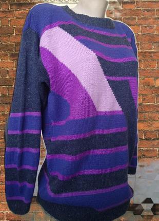 Тёплый вязаный женский джемпер пуловер свитер оверсайз hand ma...