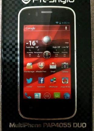 Смартфон Prestigio MultiPhone 4055 Duo Black