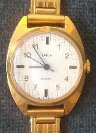 Часы наручные Zaria 17 jewels позолоченные