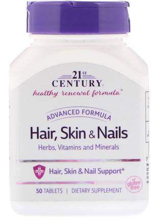 Витамины для волос, кожи и ногтей 50 таб. 21st Century США