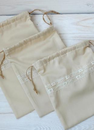 Набор мешочков, эко торбочки, мешки для хранения01, набір міше...
