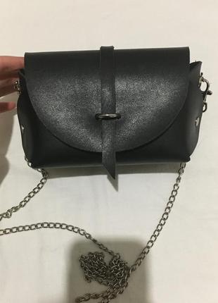 Клатч сумка с цепочкой базовый