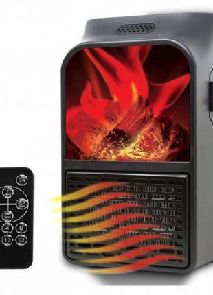 Портативный обогреватель с пультом Flame Heater (500 Вт) Экономны