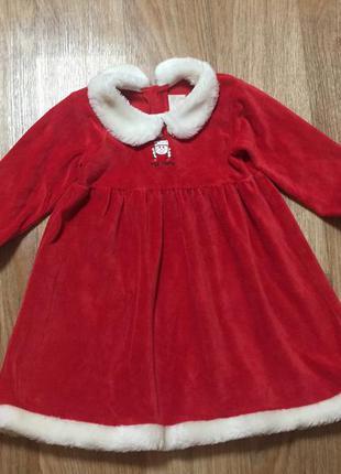 Новогоднее детское платье / карнавальный костюм мисс санта