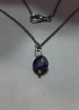 Новый кулон чароит натуральный камень минерал подарок девушке
