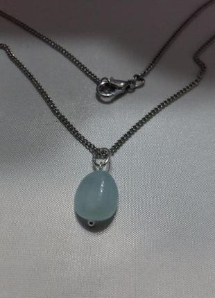 Новый кулон аквамарин натуральный камень минерал подарок девушке