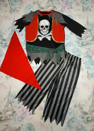 Карнавальный костюм пирата,пират, скелет, костюм на хеллоуин