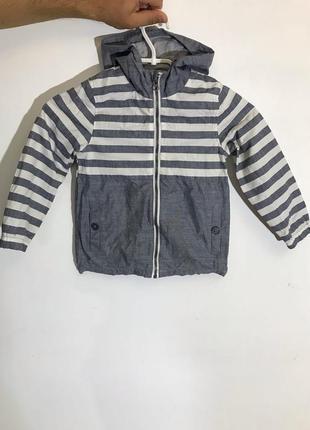 Детская куртка tu ( ту 4-5 лет 104-110 см оригинал бело-серая)