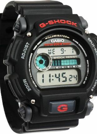 Часы наручные Casio G-Shock DW9052-1V цифровые черные с красным