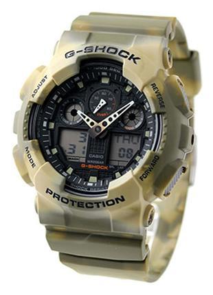 Часы Casio G-shock GA-100MM-5A Brown в милитари стиле, оригинал