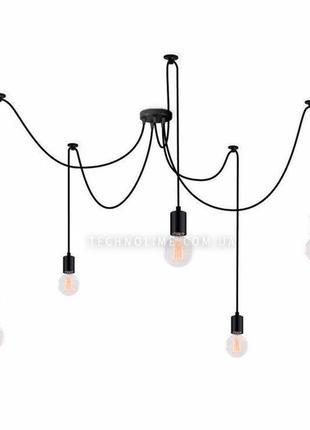 Светильник потолочный spider 5 лапок черный (1335)
