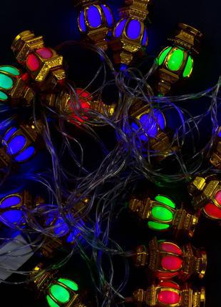 Новогодние гирлянды золото