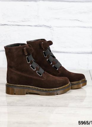 Зимние ботинки на прозрачной подошве