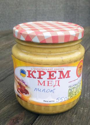 Крем мед з пилком.