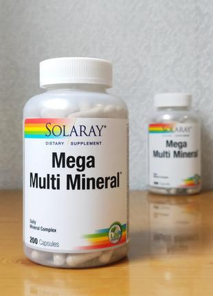 Мультиминеральный комплекс, Solaray, 200 капсул