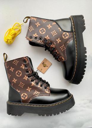 Ботинки dr. martens jadon x louis vuitton black fur