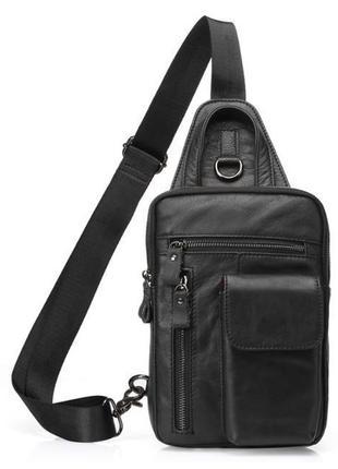 Сумка через плечо мужская рюкзак слинг одна шлейка лямка наутр...