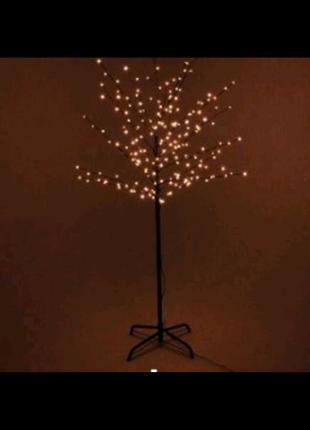 Гирлянда дерево светодиодное на стойке 1.5 м 72 лампы, Шарики
