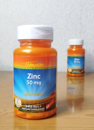Цинк, Thompson, 50 мг, 60 таблеток