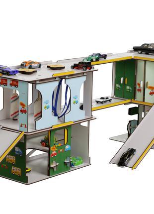 Игровой набор Детский Автокомплекс с парковкой, гаражем, мойкой