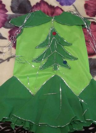 Новогоднее платье елка ёлочка на утренник