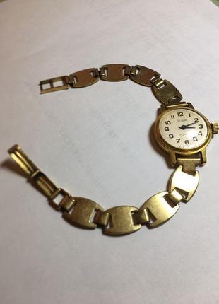 Часы советские экспортные Slava позолоченные