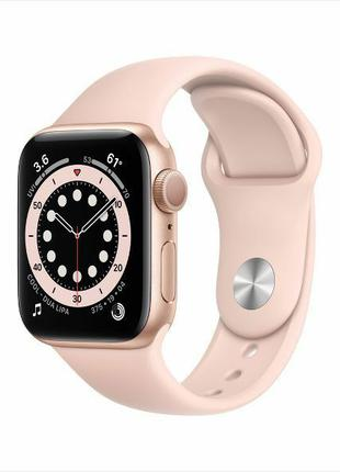 Apple Watch Series 6 40mm Gold Aluminum Case with Pink Sand Sport