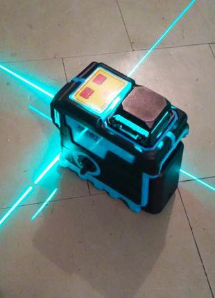 Лазерный уровень 3 d Xeast New Green