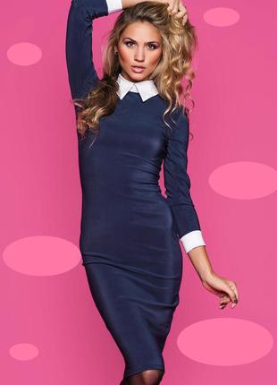 🔥платье на новый год 🎄❗️утягивающее платье с воротничком, ново...
