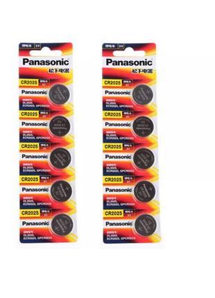 Батарейки Panasonic CR2025 .Цена за 5 шт. НОВЫЕ.