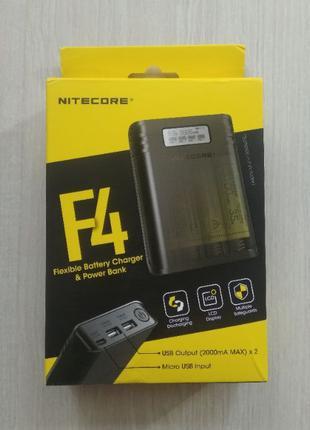 Зарядное устройство / повербанк Nitecore F4 (на 4 шт. 18650)