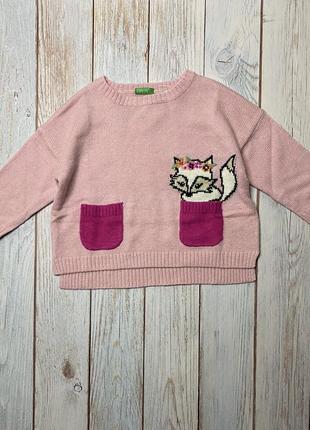 Милый свитер на девочку 2 года.